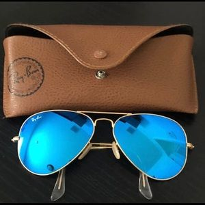 Ray ban Aviator Blue Mirror